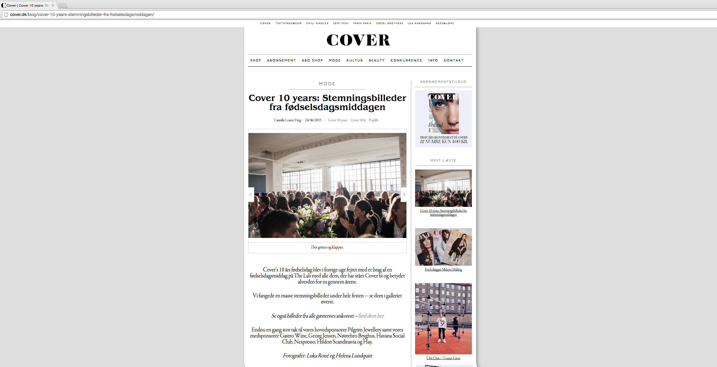 CoverMagazine10years_HelenaLundquist.1